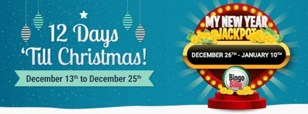 The Holiday Season is here and at Bingo Billy – be ready to share lots of love and incredible gifts and jackpots!