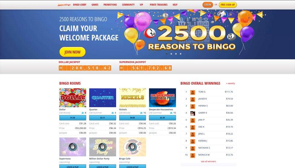 Instant Bingo – Fantastic $35 free bingo no deposit games and lobby
