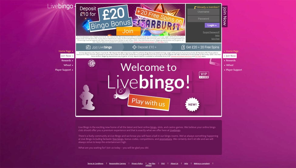Live Bingo – 200% welcome bingo bonus and Free Gift games and lobby